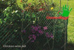 Jardín con red para aves instalada