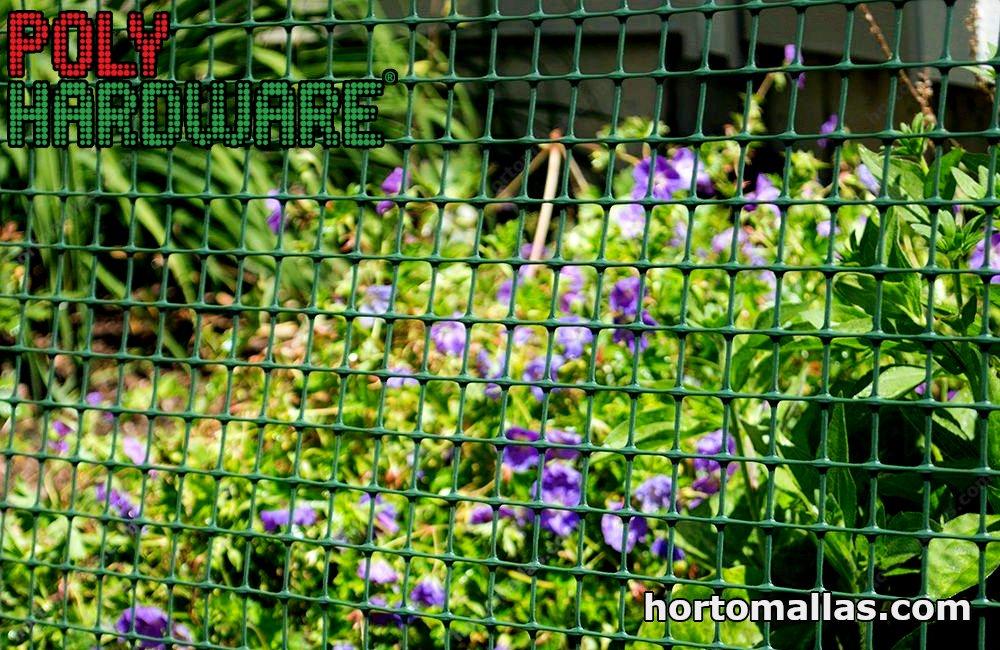 Garden with installed bird net
